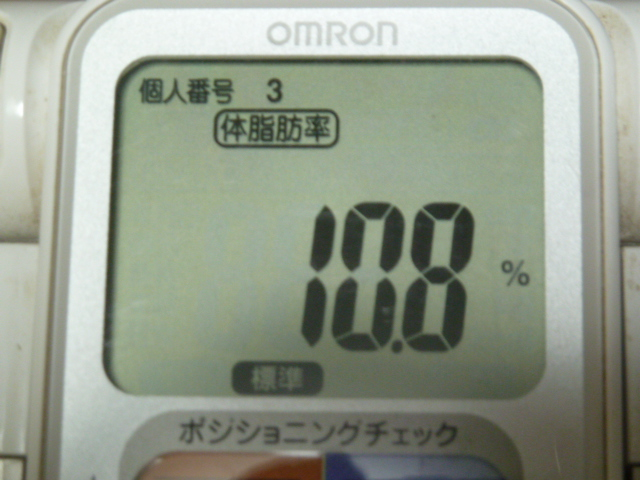 3Dエクサウェーブ体脂肪率2