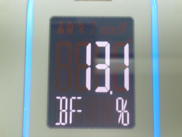 ディープチェンジHMB昼食後体脂肪率13.1%