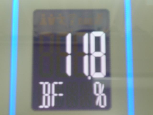 ディープチェンジHMB2017年7月4日ジムで筋トレ後の体脂肪率