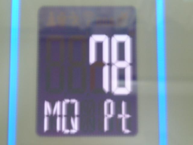 ディープチェンジHMB2017年7月4日ジムで筋トレ後の筋質点数