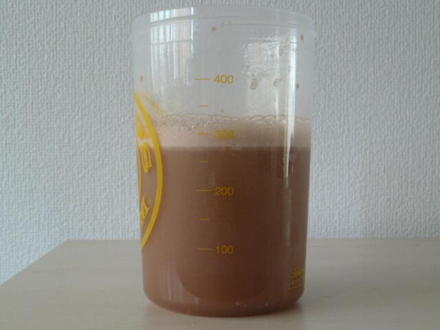 CGNのアイソレートのベリーバニラ味とダークチョコレート味を混ぜてみた
