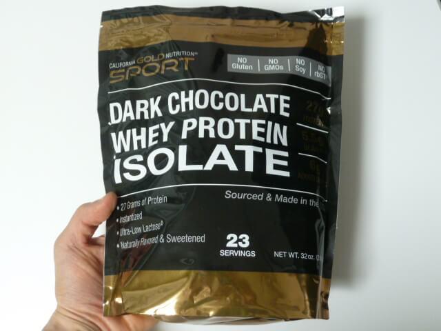 CGNのホエイプロテインアイソレート・ダークチョコレート味