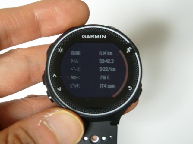 11月20日GARMIN230Jで11.2km