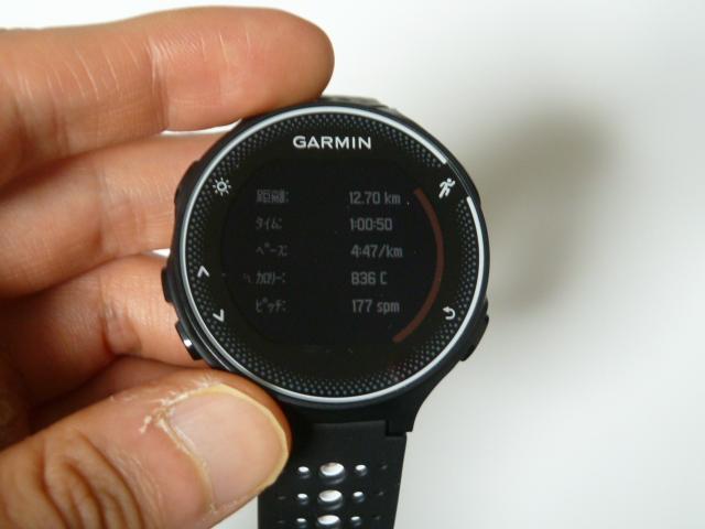 11月22日GARMIN230Jで12.7km