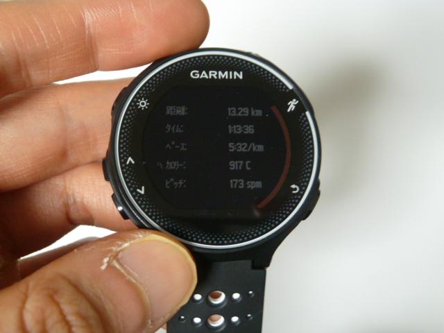 11月23日GARMIN230Jで雨の中13.3km