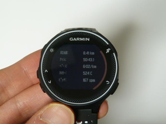2017年11月29日garmin230jで8.40km