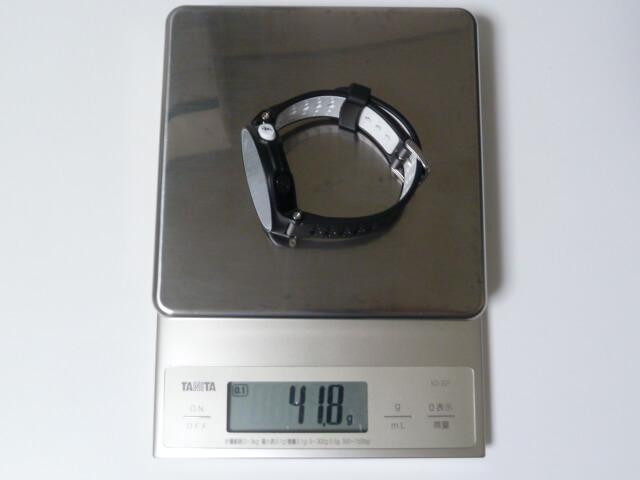 GARMIN(ガーミン)230Jの重量は41.8g