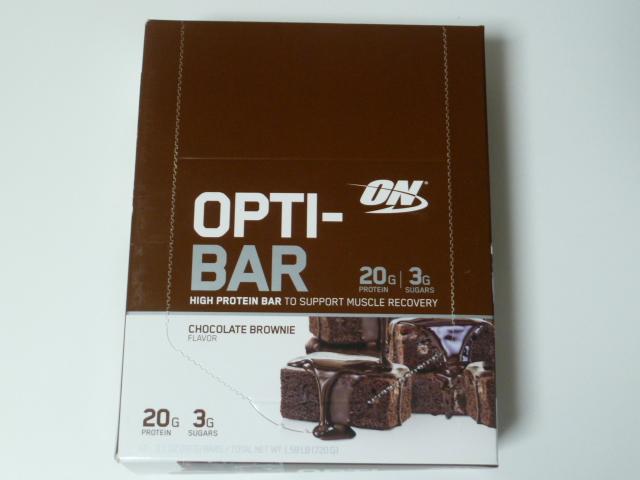 オプチマムのオプティバー・チョコレートブラウニー味