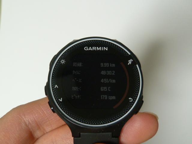 garmin230jで距離計測9.99km