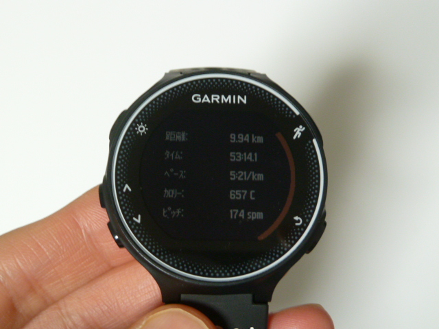 ガーミン230j9.9km