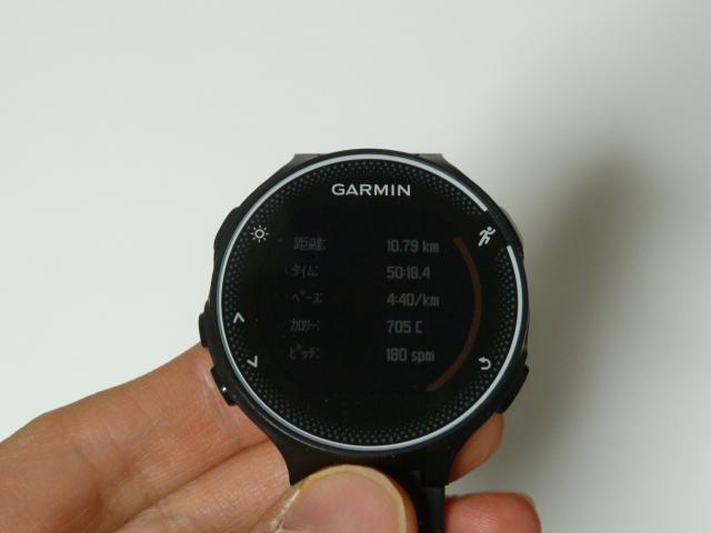 ガーミン230J10.7km