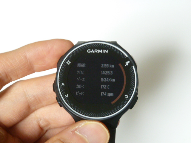 ガーミン230J2.5kmジョギング