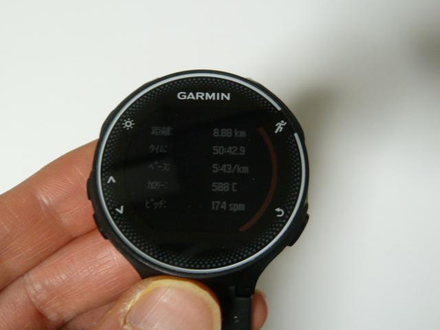 garmin230jで距離計測8.88km
