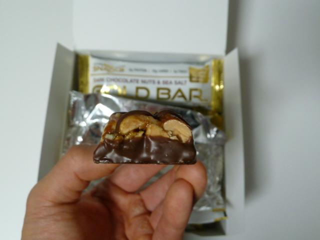 CGNゴールドバーはチョコレートが少ない
