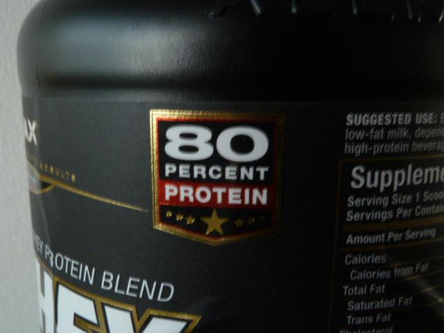 オールマックスプロテイン含有率80%