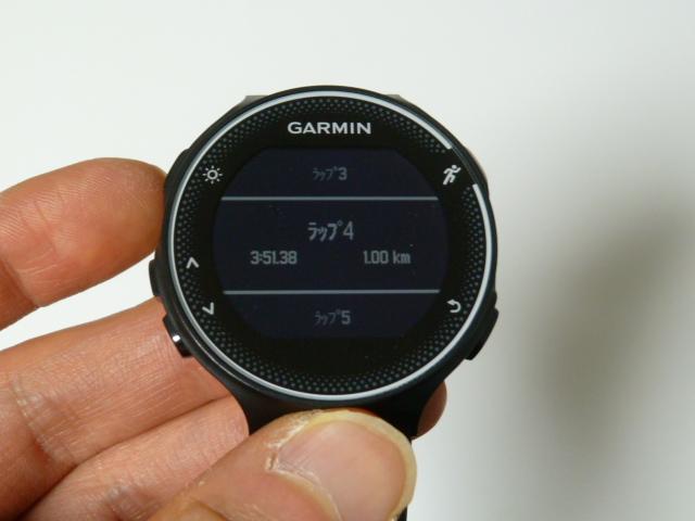 GARMIN230J4kmラップ4