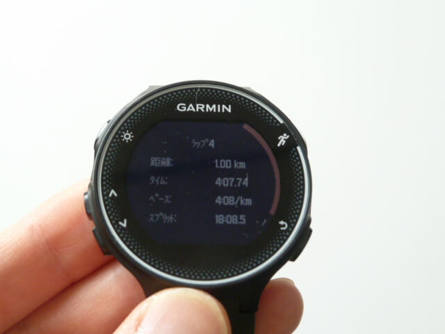 2018年8月1日GARMIN230Jキロ4分7秒台