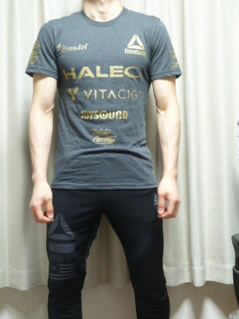 堀口恭司モデルのリーボック×ハレオ×RIZINコラボ限定Tシャツ