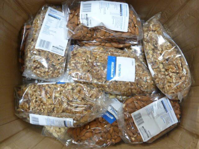マイプロテインのナッツ類4種類