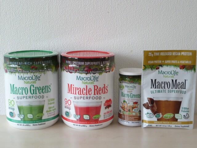 マクロライフナチュラルズのスーパーフード4種類