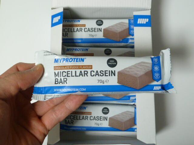 マイプロテインのミセルカゼインバーは味は2種類
