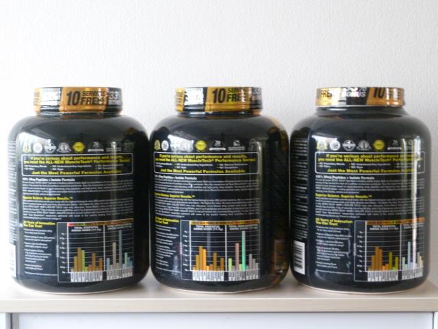 マッスルテックの新製品ホエイプラスアイソレートゴールド3種類の味