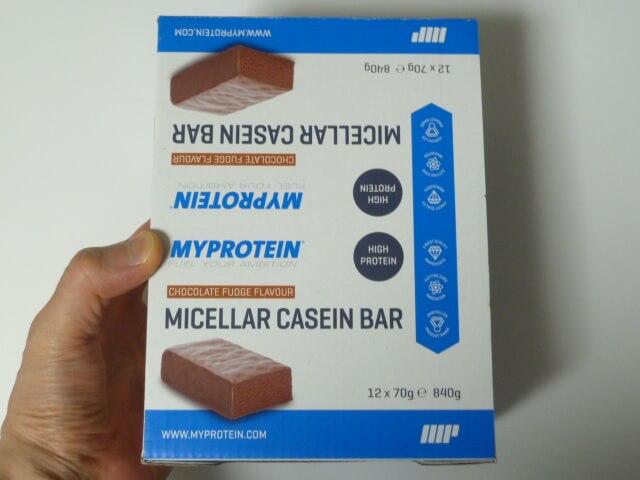 マイプロテインのミセルカゼインバー2種類の味