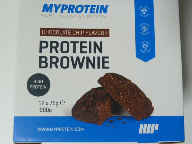 マイプロテインのプロテインブラウニー「チョコレートチップ味」