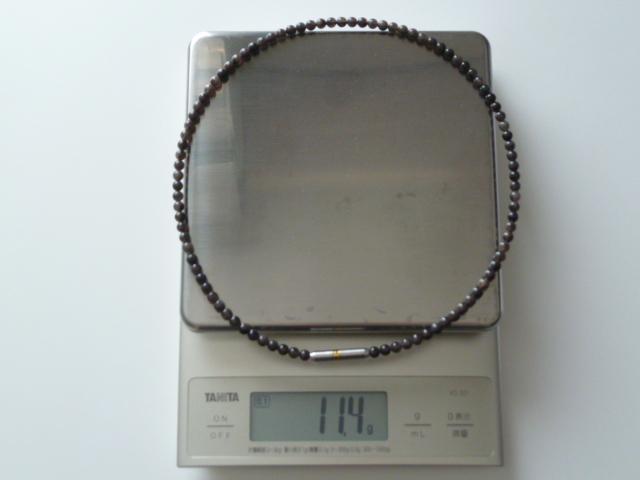 ファイテンのMETAXクリスタルタッチ50cmは重量11.4g