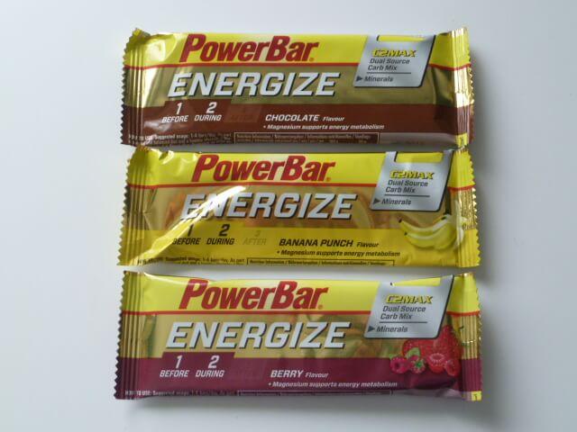 パワーバー(POWERBAR)のエナジャイズ(ENERGIZE)3種類の味