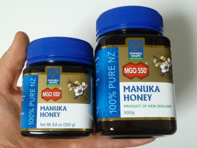 マヌカヘルス社のマヌカハニーMGO550+の250gと500g