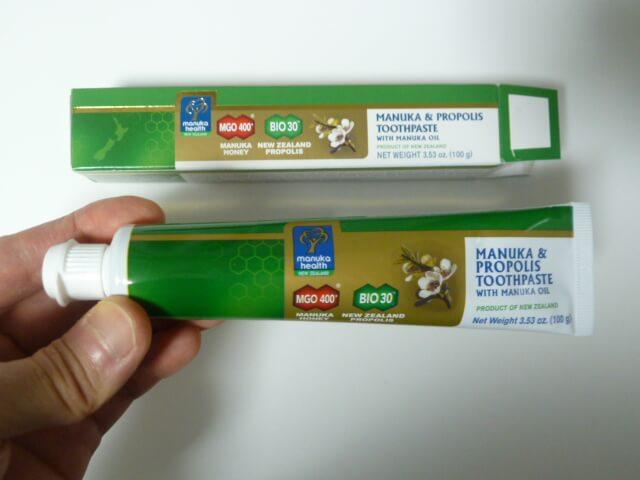マヌカヘルスのマヌカ&プロポリス歯磨き粉100gMGO400+
