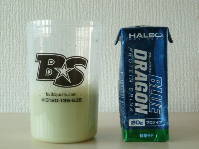 ハレオのプロテインドリンク「ブルードラゴン抹茶ラテ味」