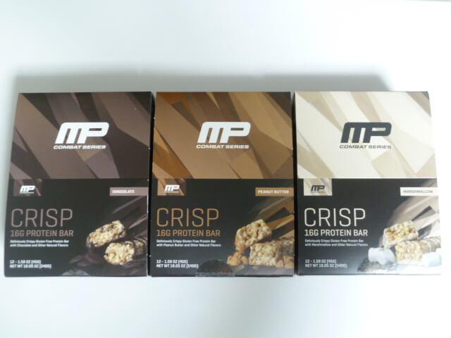 マッスルファームのコンバットクリスプ3種類の味