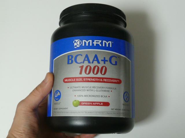 MRMのBCAA+Gグリーンアップル味